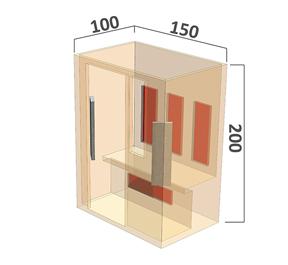 Full Spectrum infraroodsauna 4 personen afmetingen