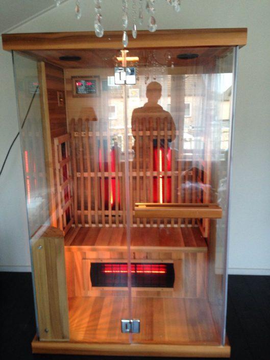 Full Spectrum Open sauna bij mensen thuis in Arnhem