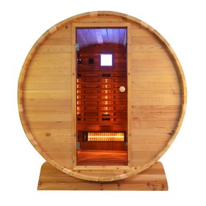 Infra4Health barrel infrarood sauna knotty