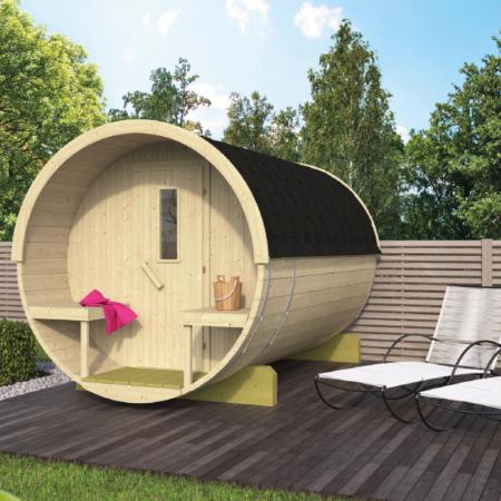 Barrel sauna 250 - Vurenhout