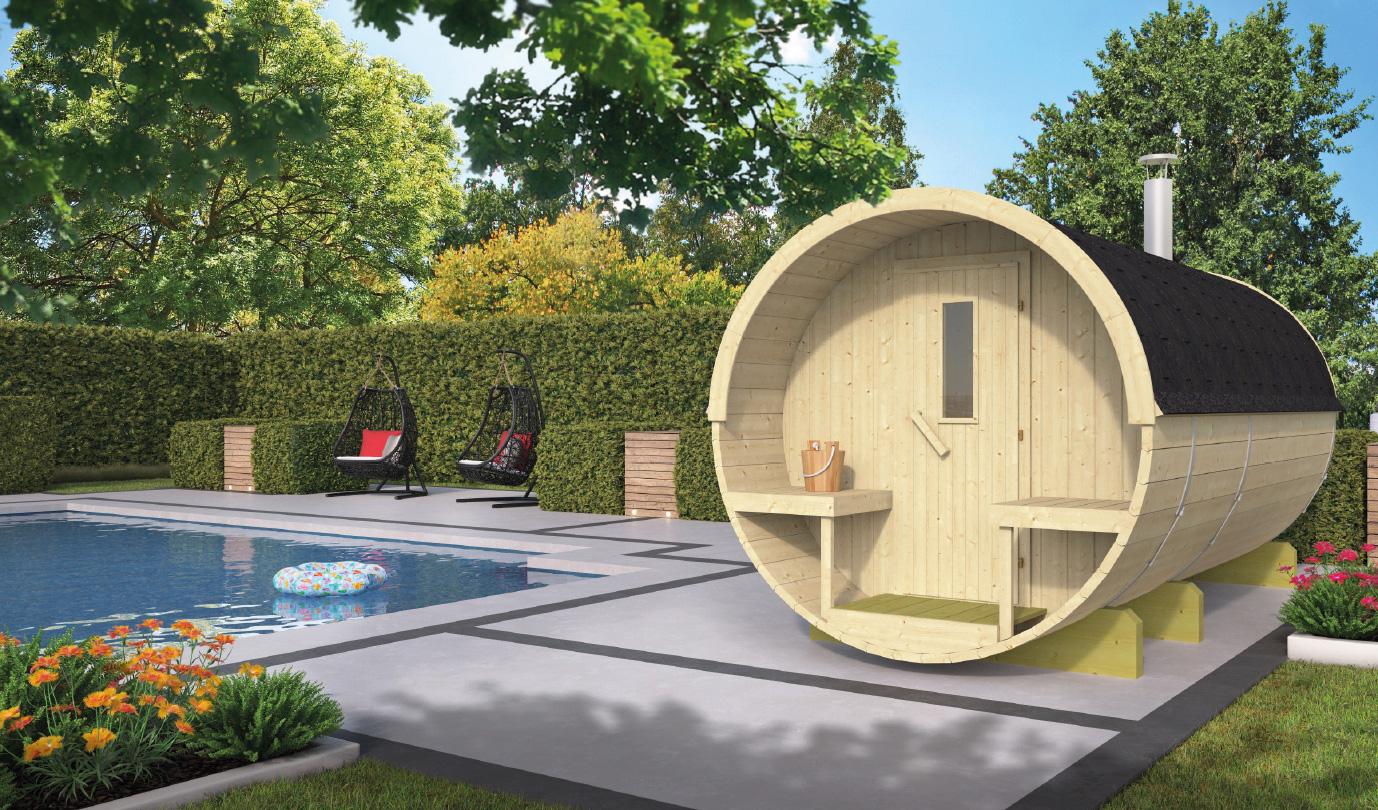 Barrel sauna 350 - Thermowood