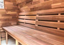 Sauna pod detail