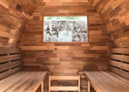 Sauna pod binnenkant