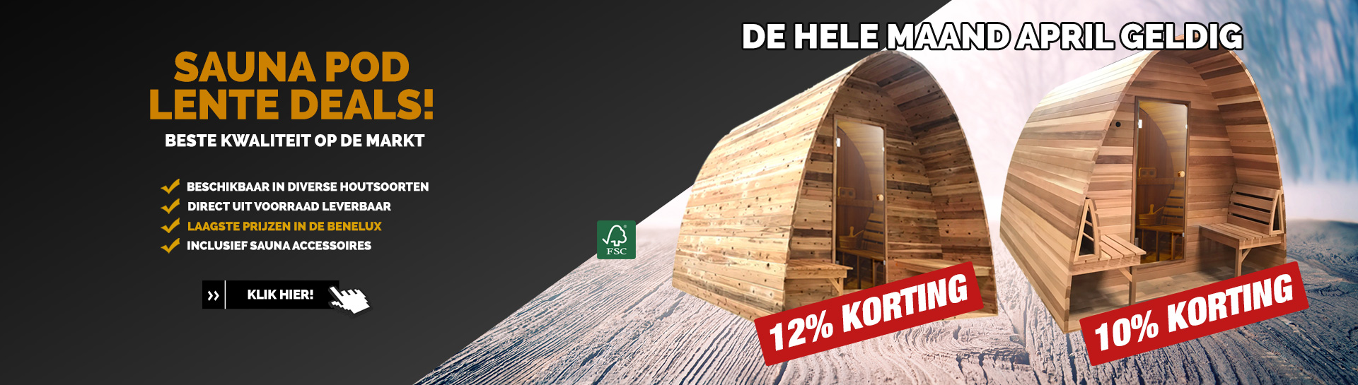 Sauna pod April actie