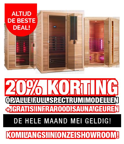 Infrarood sauna actie mei