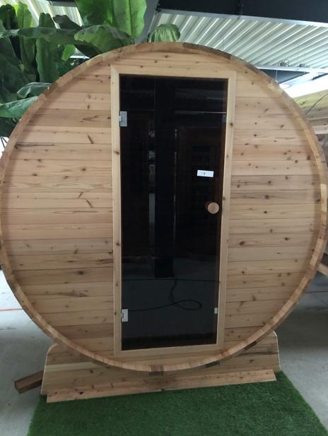 Barrel sauna infrarood knotty outlet model