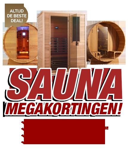 Sauna actie maart