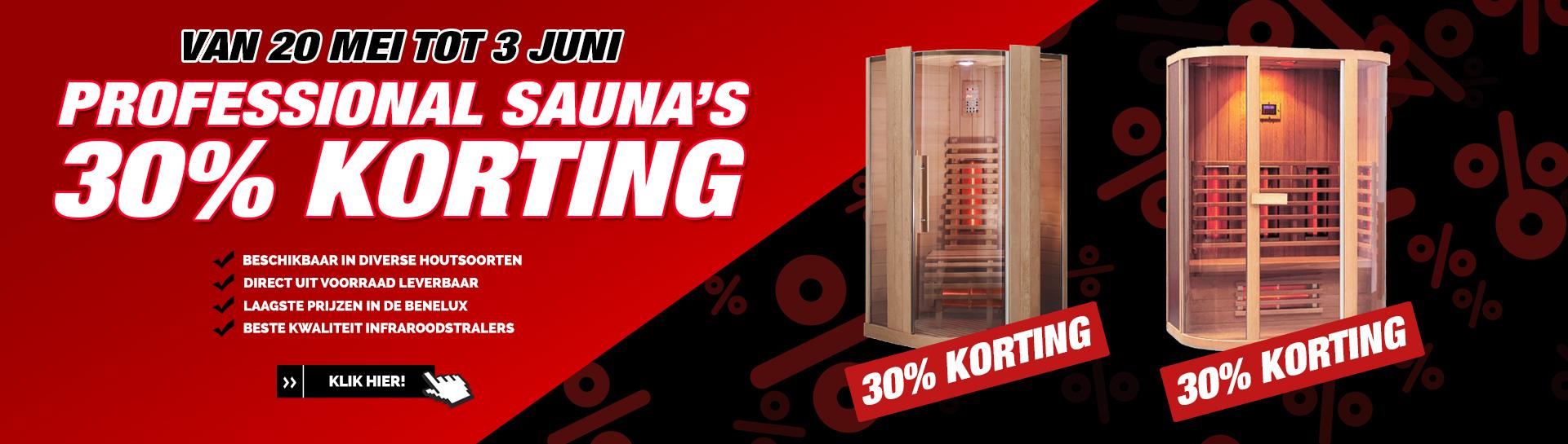 Professional infrarood sauna korting