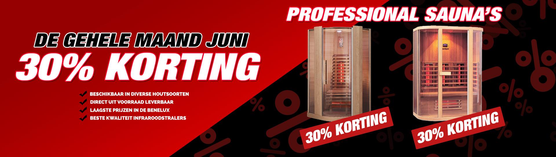Professional infrarood sauna juni actie