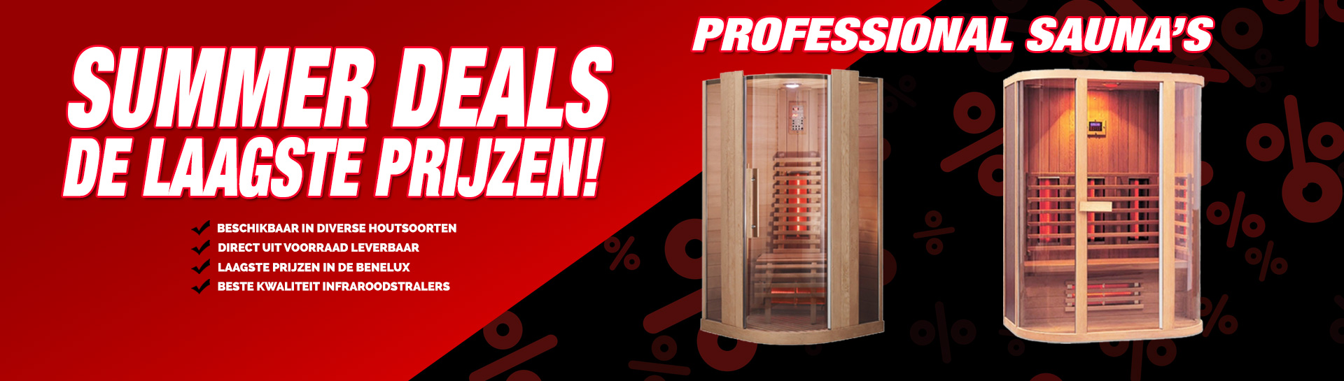 Infrarood sauna summer deals