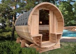 Barrel sauna traditioneel - Infra4Health