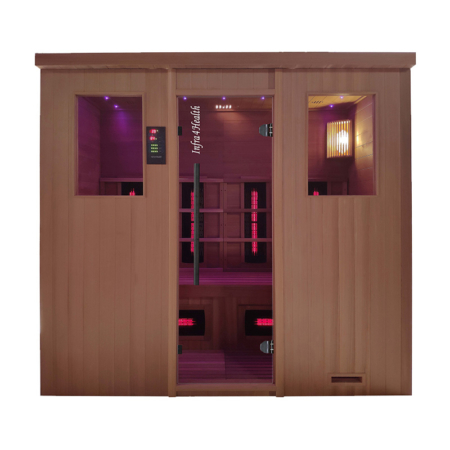 Traditionele Combi sauna Red Cedar - Infra4Health