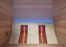Professional infraroodsauna Lounge - Vooraanzicht